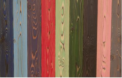 木目にマッチしたカラフルな色合い UROCO は色合いは全部で 12 種類。シックな黒や ダークグリーンはもちろん、イエローやピンクなどの派手な色もあります。でも、ビビッドな眩しい色では なく、木目にマッチしたとてもきれいな発色です。木材を塗装する悩みがなくなる!UROCO は最初から塗装の加工がしてありますので、塗装するスペース確保やヨゴレの心配がまったくありません。しかも普通のペンキではなくウレタン塗装な ので、キズに強く高級感のある色合いになっています。