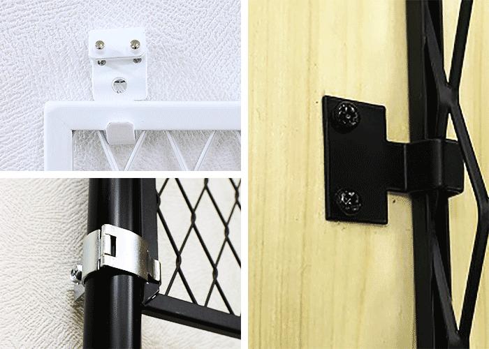 エキスパンドメタルのラスティを壁に直接固定・木材に固定・伸縮ポールに固定