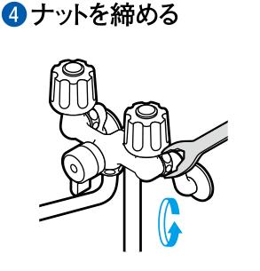 ④ナットを締める